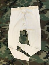 Swedish Military Surplus Underwear Ribbed Cotton Long Johns PACK OF 2 Pants