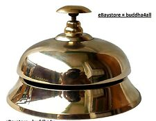 Service Desk Bell Counter Bell Ornate Solid Brass Hotel Counter Bell