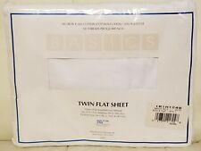 Westpoint Stevens Twin Flat Sheet White Basic New Sealed No Iron