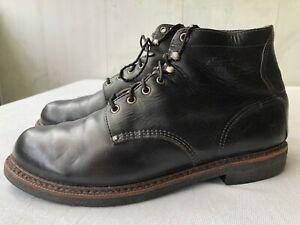 THOROGOOD 814-6532 mens black leather boots Sz US 10.5 D