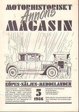 Motorhistoriskt Magasin Annon Swedish Car Magazine 5 1986 Buick 032717nonDBE