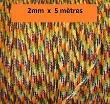 Cordelette Nylon multicolore 2mm écheveau de 5 mètres