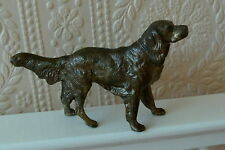 METAL GUNDOG DOG MODEL DOG FIGURINE GUN DOG ORNAMENT SETTER  SPANIEL