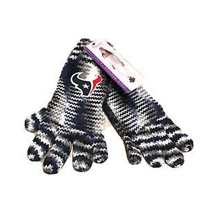NEW Alyssa Milano Houston Texans NFL womens Knit Gloves One Size