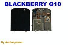 PRO1: DISPLAY LCD +TOUCH SCREEN PER BLACKBERRY RIM Q10 +FLAT FLEX NERO NUOVO