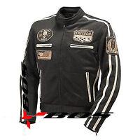 Blouson Moto Textile Homme SPort été noir.Hommes De Moto Veste été.Taille S-5xl