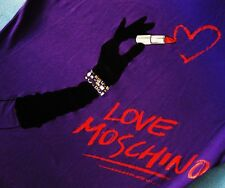 T-SHIRT woman  vintage 90's LOVE MOSCHINO TG.42-.S  circa  made Italy Rare