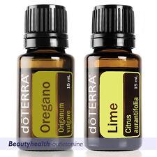 doTerra Oregano 15ml + Lime 15ml Therapeutic Grade Essential Oil Aromatherapy