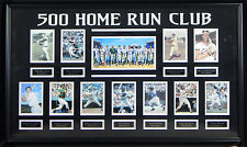 """500 Home Run Club 24x40"""" Showcase Piece Signed by 11 HOF'ers Ted Williams Mantle"""