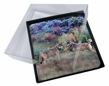 4x Wolves Print Picture Table Coasters Set in Gift Box, AW-45C