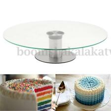 11.8'' Glass Cake Making Turntable Rotating Stand Decorating Platform Display AU