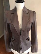 Women's Gray Guess Jacket Blazer Size Small Puff Sleeve