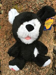 """Build a Bear Small size 8"""" Cookies & Cream Pup Plush Toy - New"""