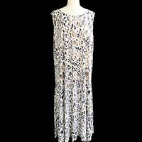 ATTITUDES BY RENEE Petite 3X Knit Stone Animal Prints Sleeveless Long Dress