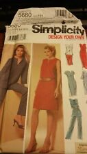 Simplicity 5680 Misses Petite Design Your Own Pants, Skirt & Dress , Tunic