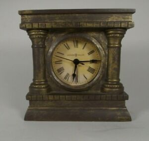 Howard Miller Roman Numeral Table Clock Model 645-539 Columns 5.5-inch Tall   bn
