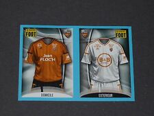 N°300 301 MAILLOTS FC LORIENT MERLUS MOUSTOIR PANINI FOOT 2016-2017 FOOTBALL