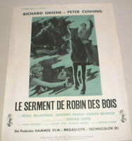 Filmplakat,Plakat,LE SERMENT DE ROBIN DES BOIS,RICHARD GREEN, P. CUSHING # 101