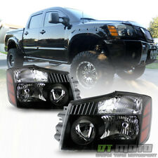 For 2004-2015 Titan 04-07 Armada Black Headlights Headlamps Left+Right 04-15 set