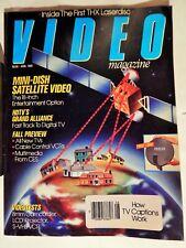 VIDEO MAGAZINE AUG 1993; MINI-DISH SATELLITE VIDEO, HDTV, CABLE CONTROL VCRS