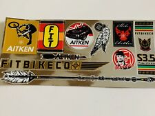 "fit bike co stickers Mike Aitken Decals 4""x 9"" Bmx Decals Fit S&m Cult Primo Bmx"