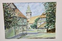 Original Aquarell von Bad Windsheim Monogrammiert R M
