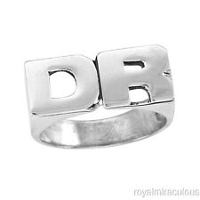 Personalized Initial Ring - Name Ring Unisex Block Style 8mm Sterling Silver