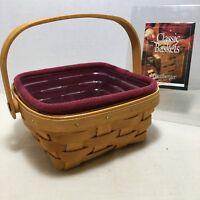 Longaberger Halloween Candy Corn Basket Garter with Large Bow