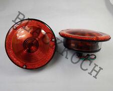 Rear Combination Tail Light Amber fits Willys Jeep CJ3 CJ5 CJ6 CJ2A CJ3A CJ3B 24