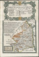 Antique map, Northumberland / The Road from Salisbury to Campden