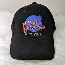 Vintage 1998 PLANET HOLLYWOOD New York Logo Hat Adjustable Strapback Cap Black