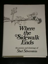 WHERE THE SIDEWALK ENDS, Poems and Drawings by Shel Silverstein (1974 Hardcover)