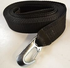 10m Heavy duty Black winch strap 3000kg 3 ton 6600lbs