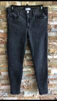 MCGUIRE Black Denim Bleach Splatter Skinny Jeans Newton Womens's Sz 32 USA