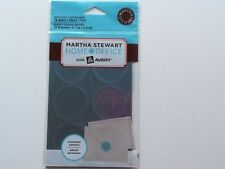 Martha Stewart Home Office with Avery Blue Embossed Mailing Seals/Labels  18ct.