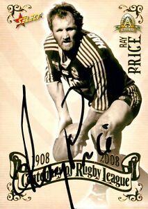 ✺Signed✺ 2008 PARRAMATTA EELS NRL Card RAY PRICE Centenary