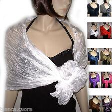 Stola CERIMONIA bianco bianca ELEGANTE coprispalle foulard scialle sciarpa D0167