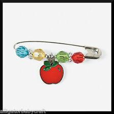Apple Enamel Charm Pin Craft Kit for Kids Autumn Fall Teacher School ABCraft