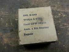 Jeep MB GPW GPA Starter Repair parts kit G503 G504 Original in box NOS