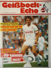 Programm 1986/87 1. FC Köln - Bayer Leverkusen