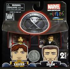 2011 MARVEL MINIMATES TOYS R US X-MEN FIRST CLASS XAVIER & SHAW FIGURES MIP