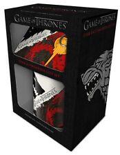 Game of Thrones Tasse Sous-verres et Porte-clés Stark & Targaryen