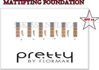 Mattifying Foundation Pretty Flormar Flawless Coverage SPF15 Oil-free 30 ml