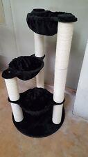 für GROSSE Katzen Katzenbaum Kratzbaum Q7-BK, NEU, schwarz, Sisalstämme 12cm Ø