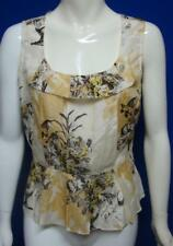 0f0a6d1e3d16f LEIFSDOTTIR Anthropologie Floral Sleeveless Top Blouse Size 6
