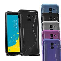 Galaxy J6 2018 Case - Grip Wave Gel Case Cover For Samsung Galaxy J6 & Screen