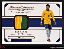 2018 Panini National Treasures Material Treasures Bronze Neymar Jr 11/35 PATCH
