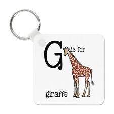 Letter G Is For Giraffe Keyring Key Chain - Alphabet Cute Animal Funny