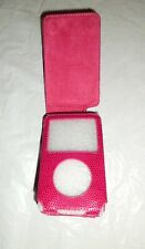 Faux Leather Dark Pink Flip Case for iPod Video Classic 30-60 GB UK