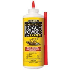 HARRIS Boric Acid ROACH POWDER with Lure 453g Kills Roaches Bugs & Silverfish